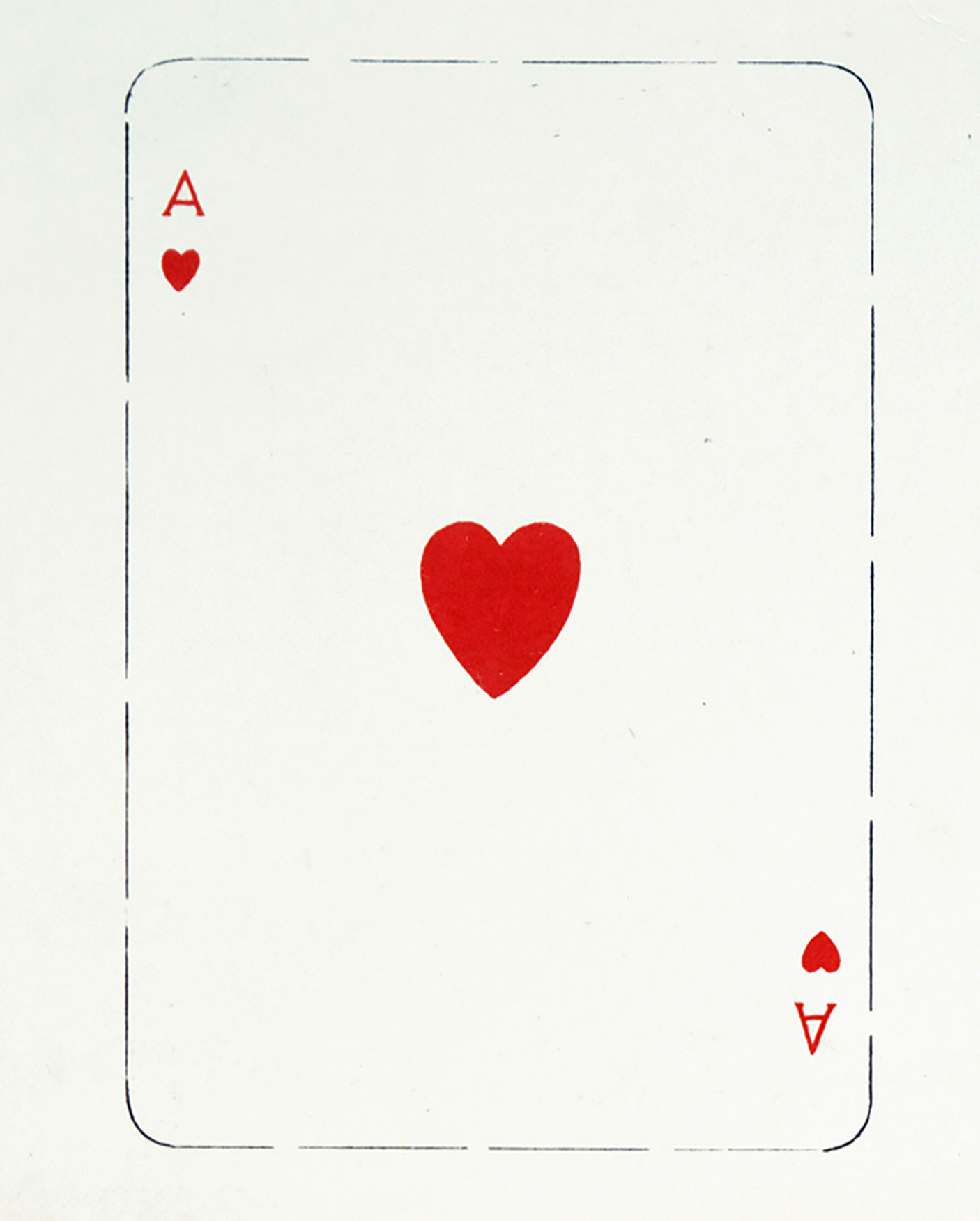 Vintage Ace Of Hearts Image