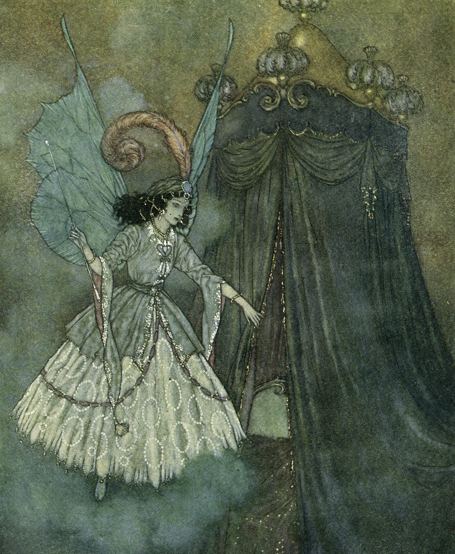 Gorgeous Vintage Blue Fairy Image