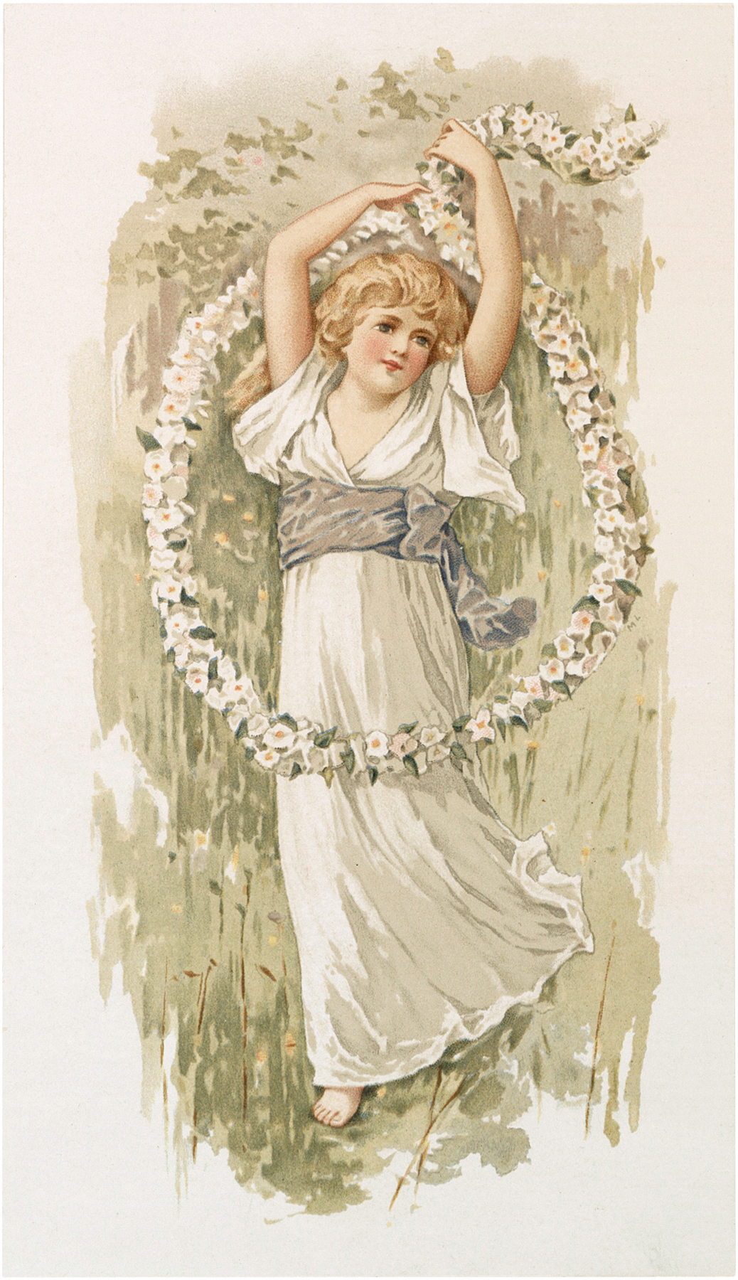 Vintage Flower Child Image