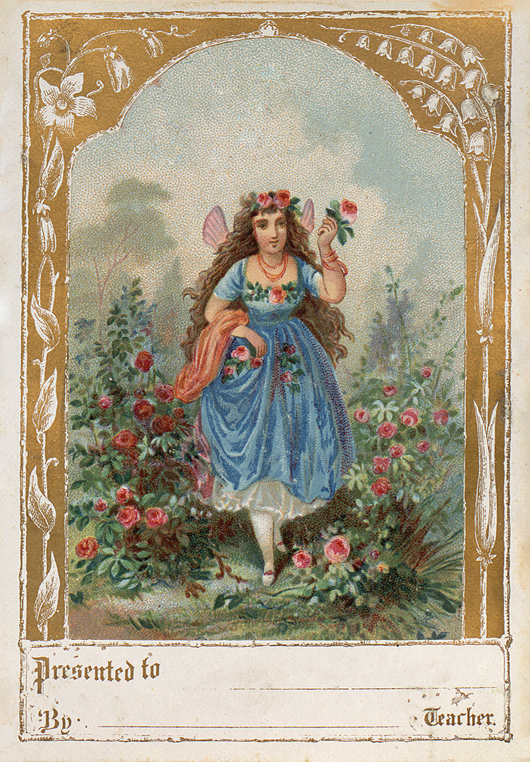 delightful vintage garden fairy image the graphics fairy