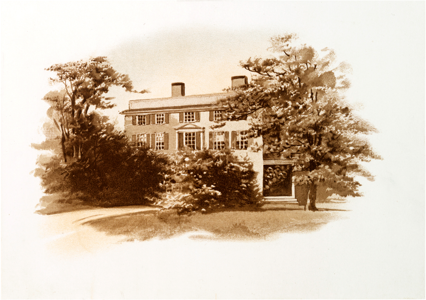 Vintage Image of Sketched House