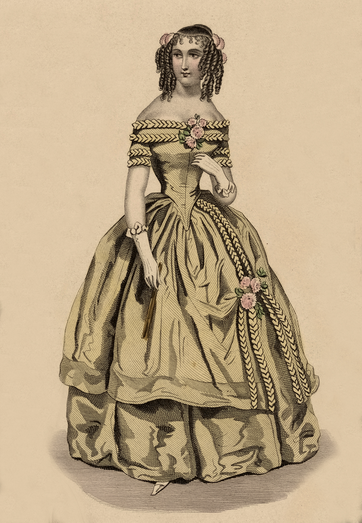 Victorian Lady with Fancy Dress Picture