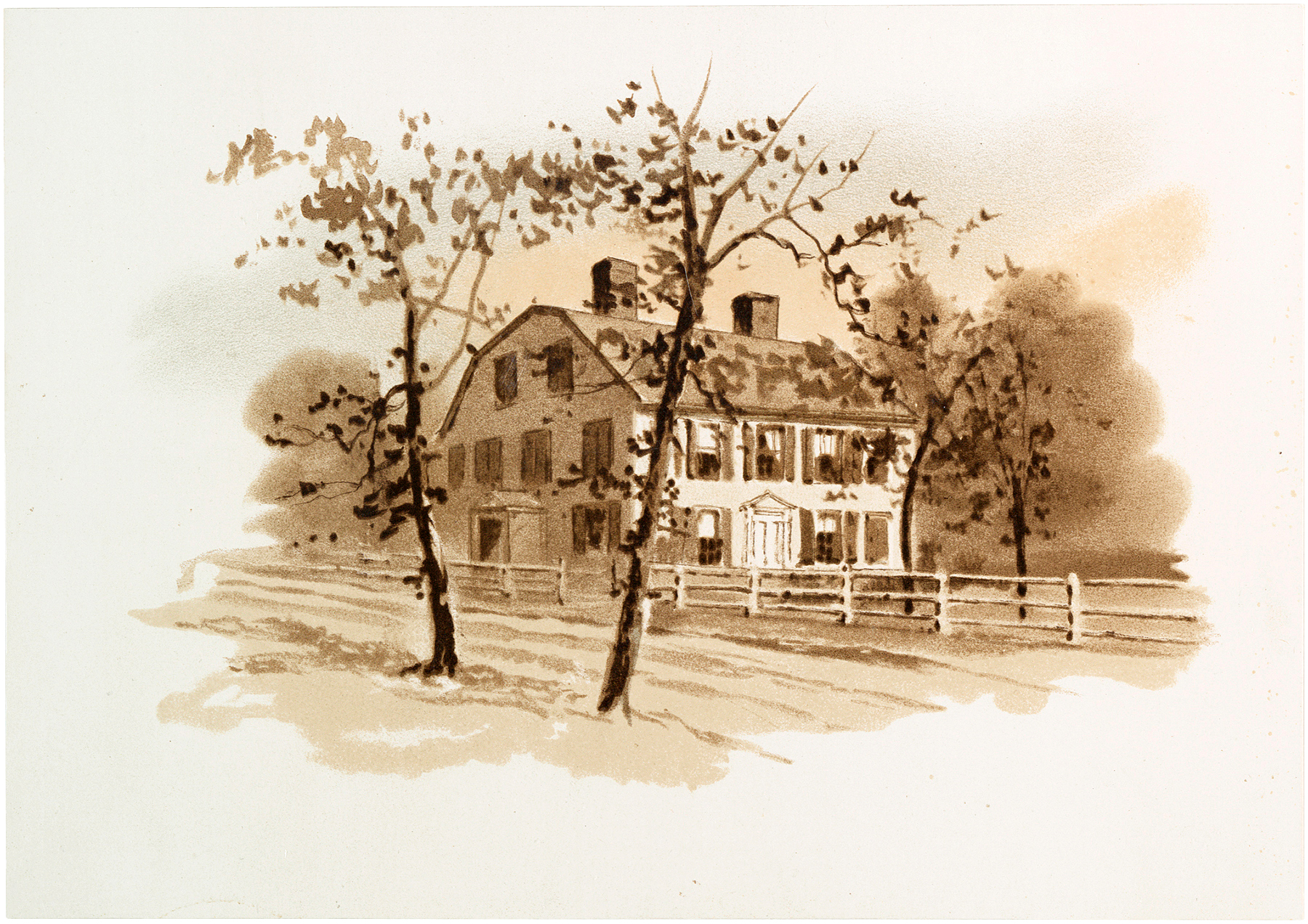Vintage Sepia House Picture