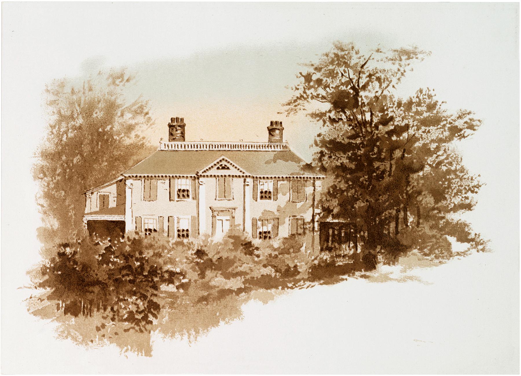 Vintage Sepia Landscape Image