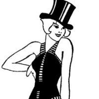 Vintage black and white dancer image