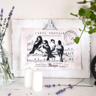 Distressed clipboard frame Project & Free Printable!