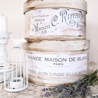 DIY Antique French Hat Boxes Project & Free Printable!