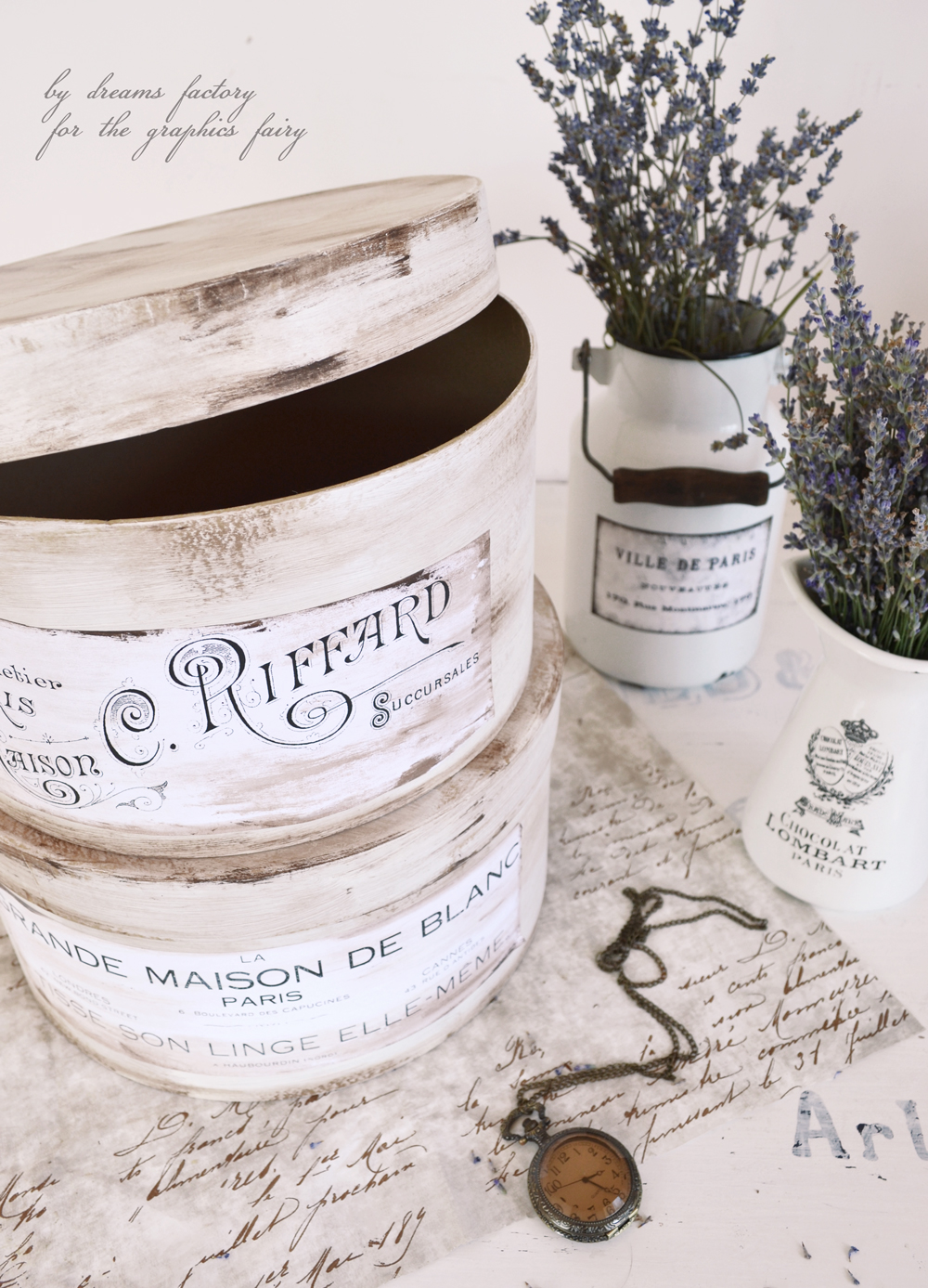 Antique French Hat Boxes Project