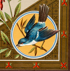 Vintage Bluebird Birthday Image