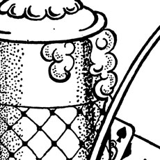 Black And White Beer Stein And Pipe Image!
