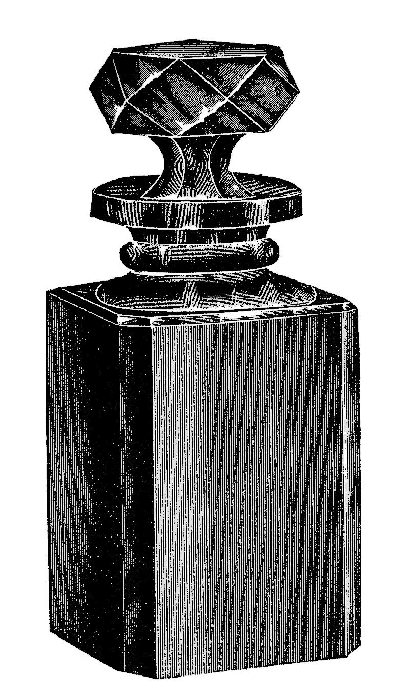 Black And White Glass Perfume Bottle Clip Art! - The ...