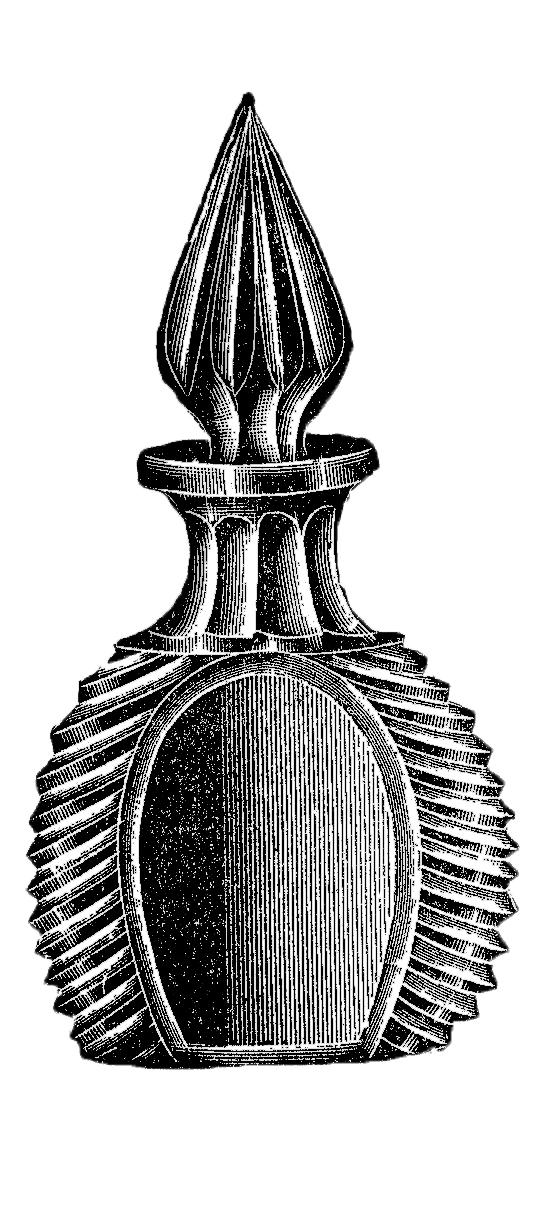 Vintage Glass Perfume Bottle Image