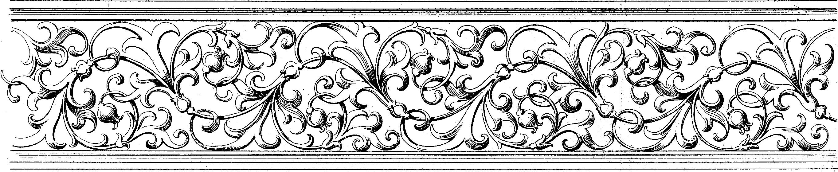 Baroque Ornamental Border Image