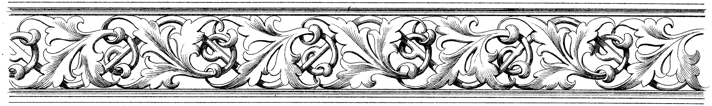 Black And White Ornamental Image