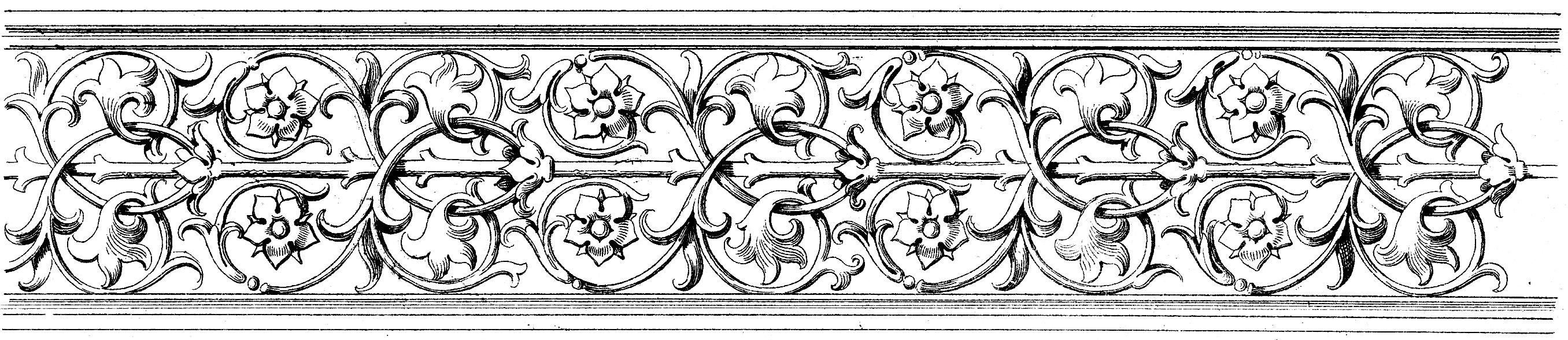 Lovely Baroque Ornamental Border Image