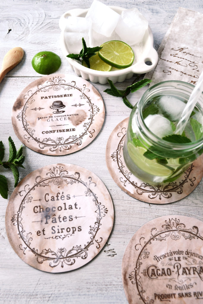 DIY Vintage French CD Coasters Project & Free Printable!
