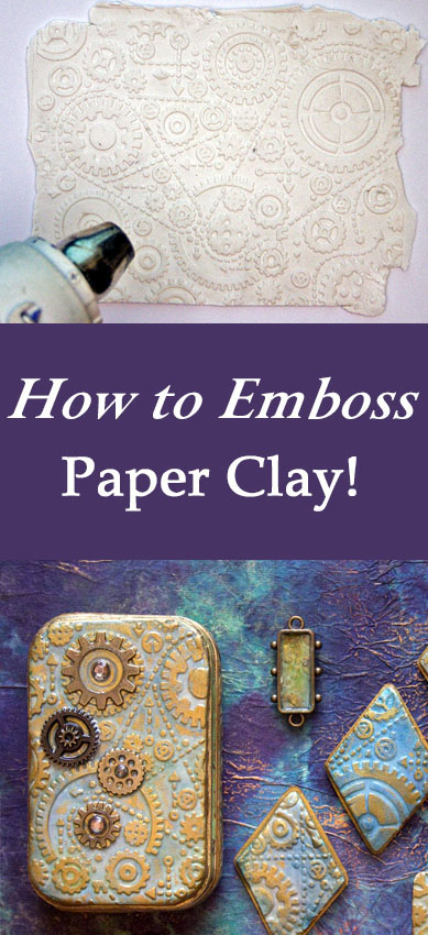 Embossed Paper Clay Technique