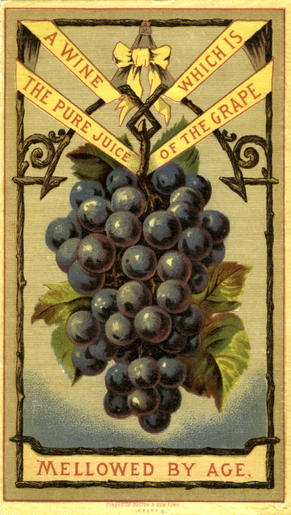 Nostalgic Wine and Grapes Art Image