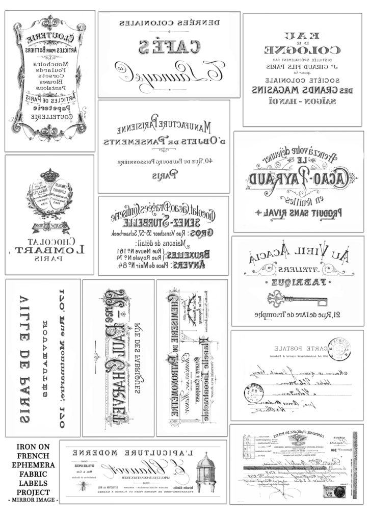 photo about Free Printable Ephemera titled Do it yourself French Ephemera Cloth Labels and Absolutely free Printable