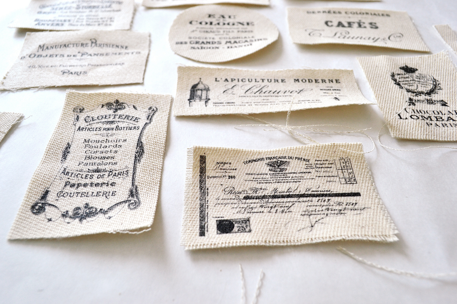 Superb image in printable fabric labels
