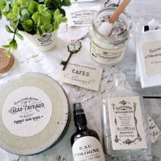 DIY French Ephemera Fabric Labels and Free Printable