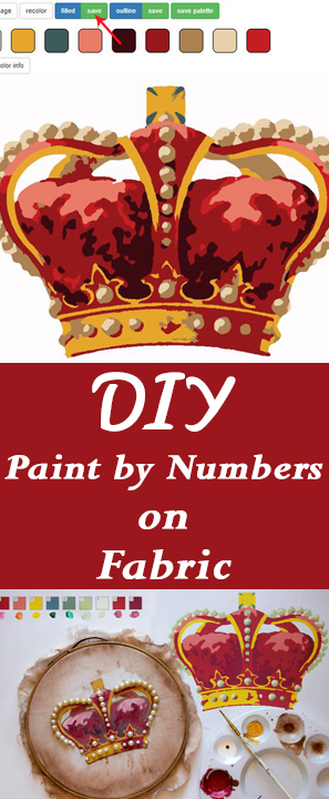 DIY Paint by Numbers on Fabric