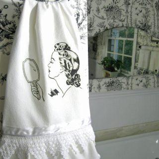Vintage Powder Room Hand Towel – Reader Feature