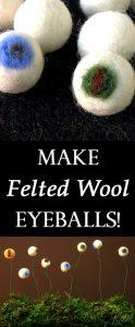 Make Felted Wool Eyeballs
