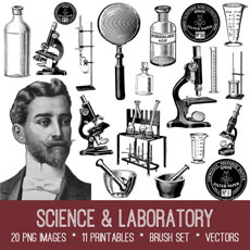 Science & Laboratory Images Kit! Graphics Fairy Premium