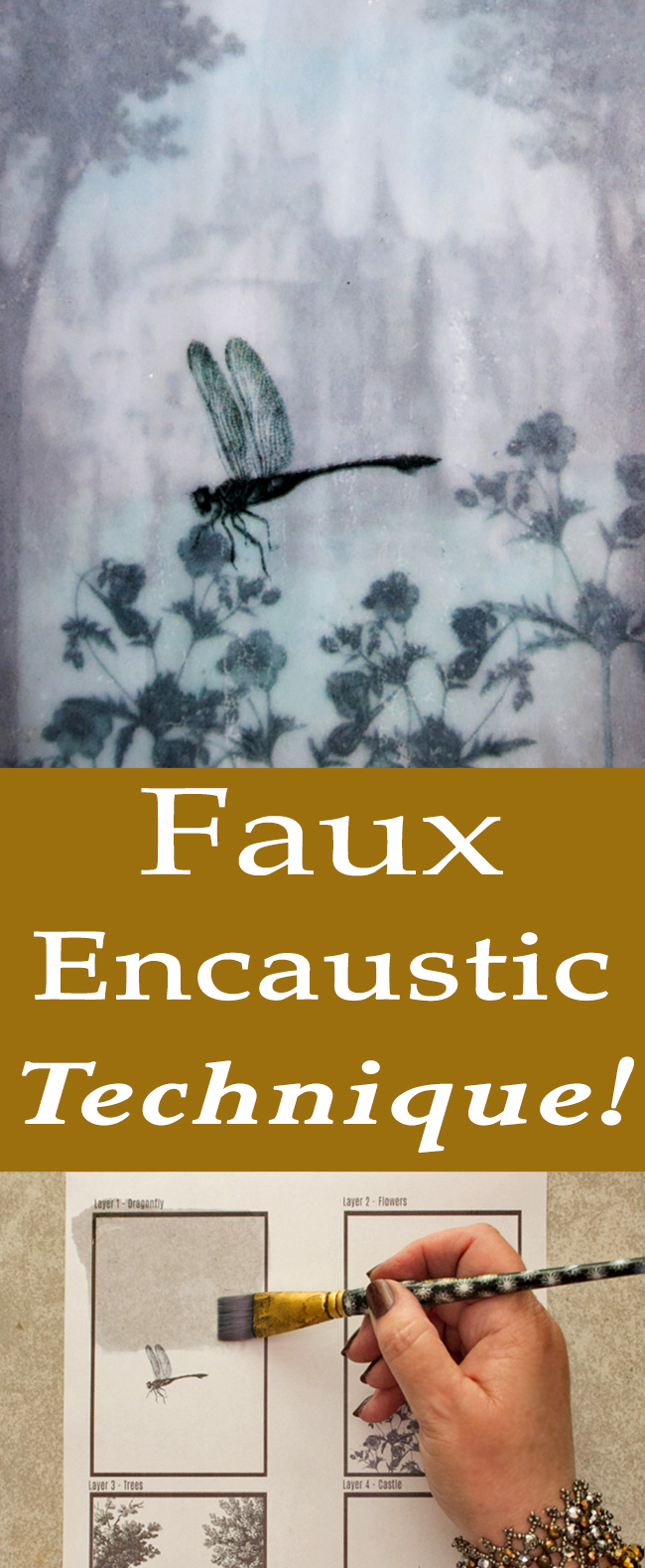 Faux Encaustic Technique