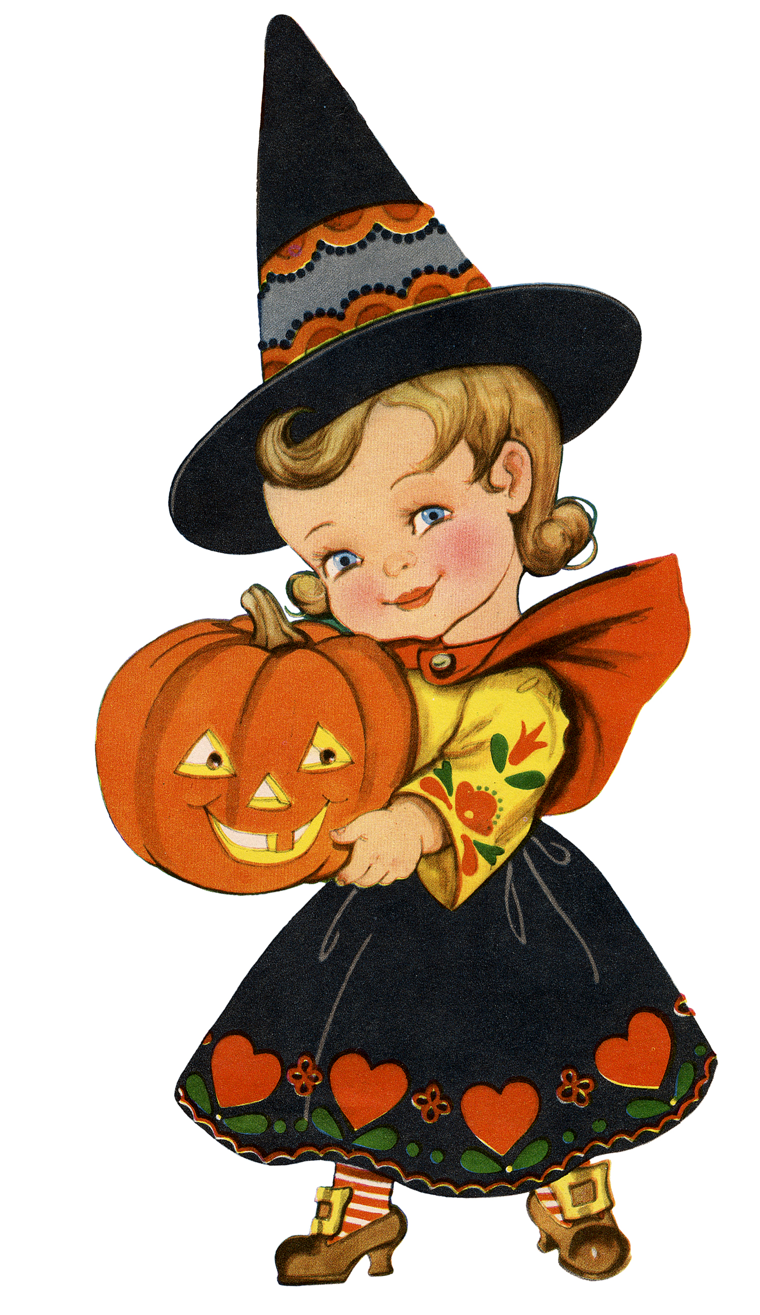 Retro Halloween Girl Image