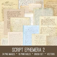 Script Ephemera 2 Images Kit! Graphics Fairy Membership