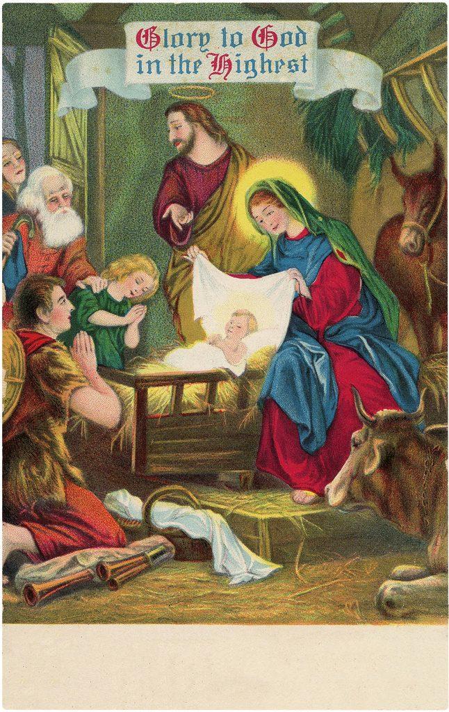 Christmas Glory Manger Scene