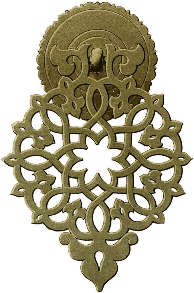 Old Brass Hardware Drawer Knob Image