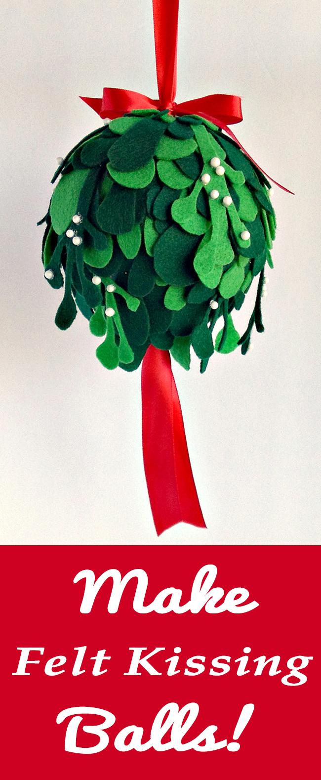 make a felt kissing ball mistletoe the graphics fairy. Black Bedroom Furniture Sets. Home Design Ideas