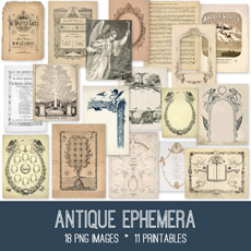 Antique Ephemera Images Kit! Graphics Fairy Premium Membership