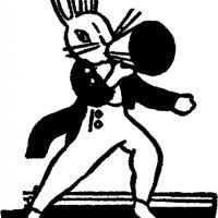 Vintage Megaphone Bunny Clip Art