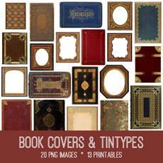 Book Covers and Tintypes Images Kit! Graphics Fairy Premium Membership