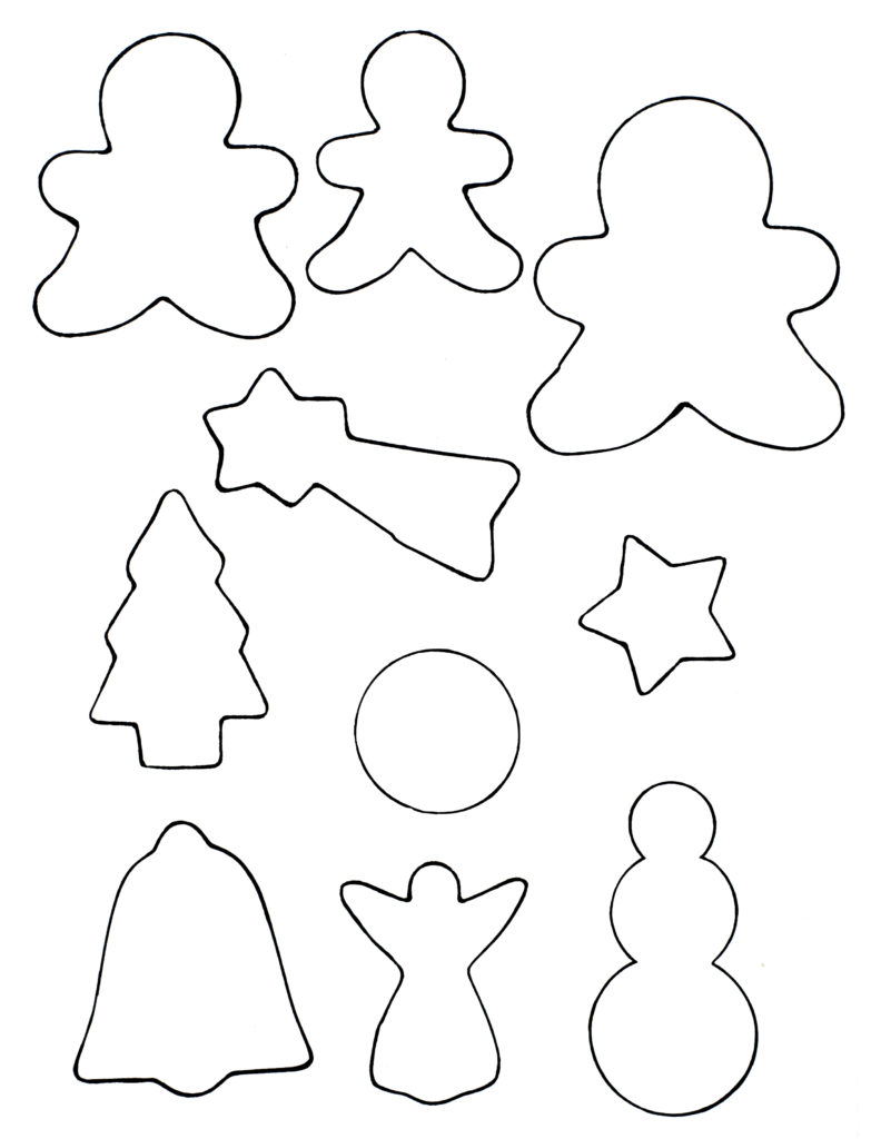 photograph about Cookie Template Printable known as Do-it-yourself Cookie Cutter Xmas Tags Job