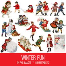 Winter Fun Images Kit! Graphics Fairy Premium Membership