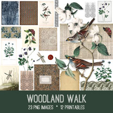 Woodland Walk Images Kit! Graphics Fairy Premium Membership