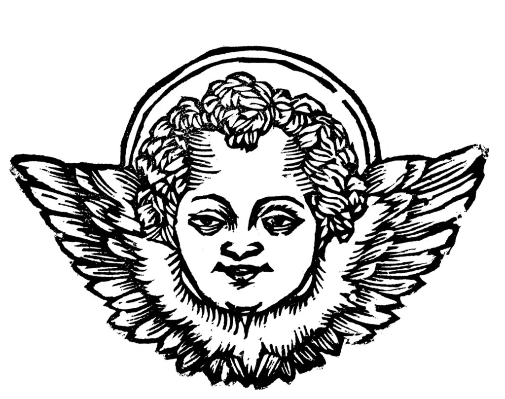 Cherub Image with Halo