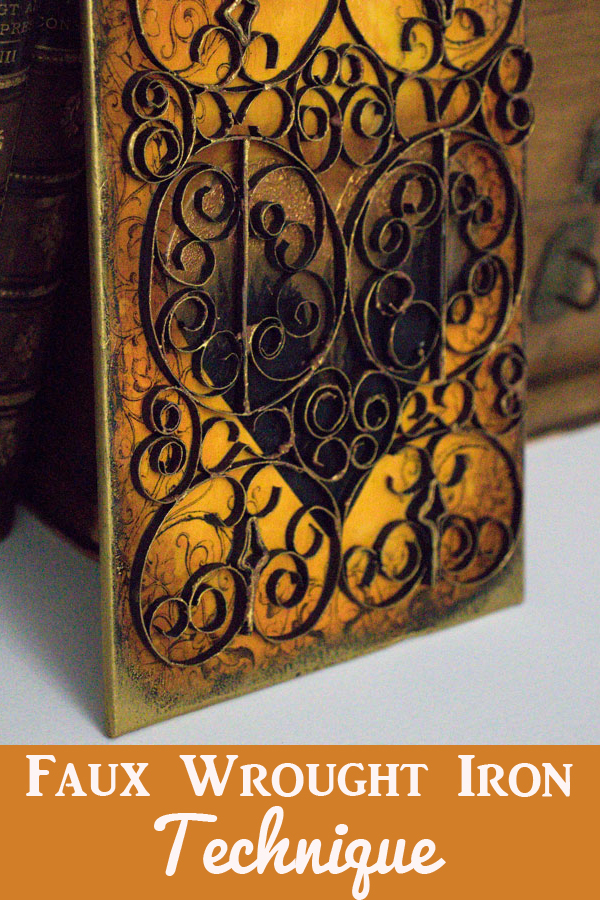 Faux Wrought Iron Technique by Thicketworks