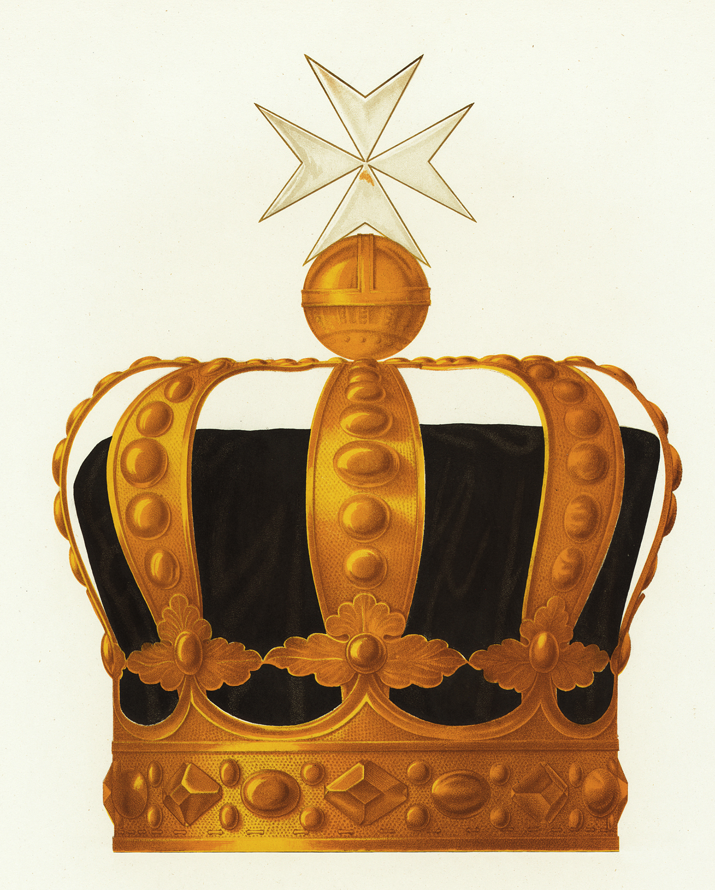Vintage Golden Crown Stock Image