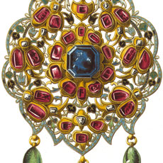 Gorgeous Vintage Jewelry Ruby Pendant Image!