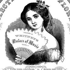 Victorian Girl with Fan Label Graphic!