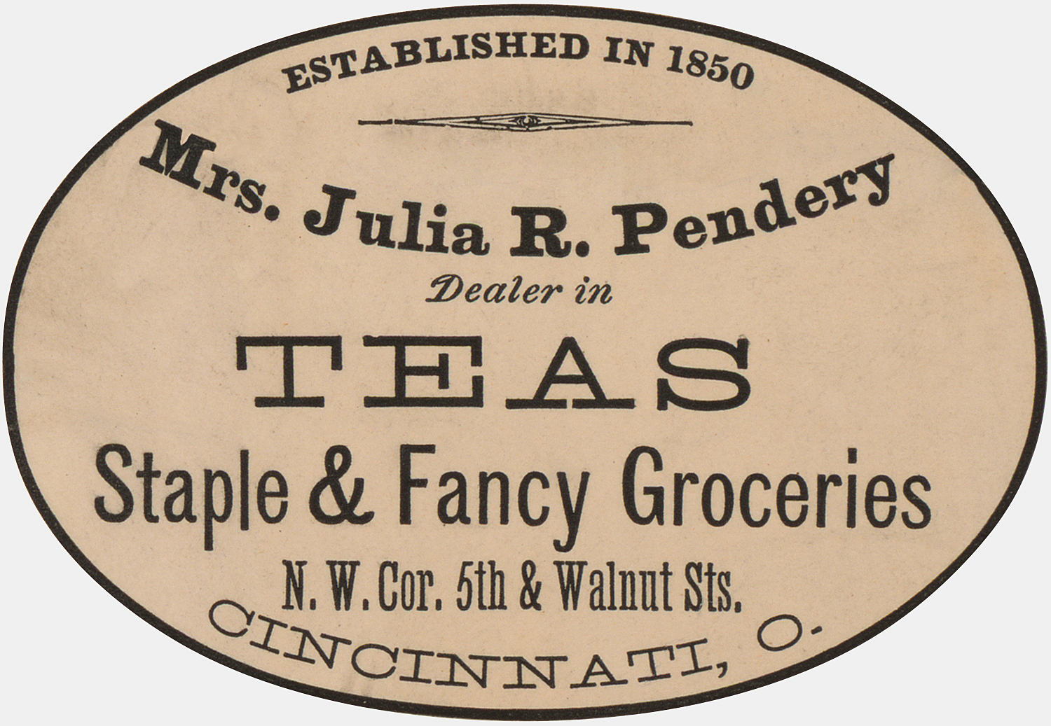 Tea Advertising Label
