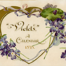 Nostalgic Violets on Open Gold Heart Graphic!