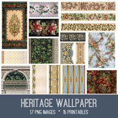 Heritage Wallpaper Images Kit! Graphics Fairy Premium Membership