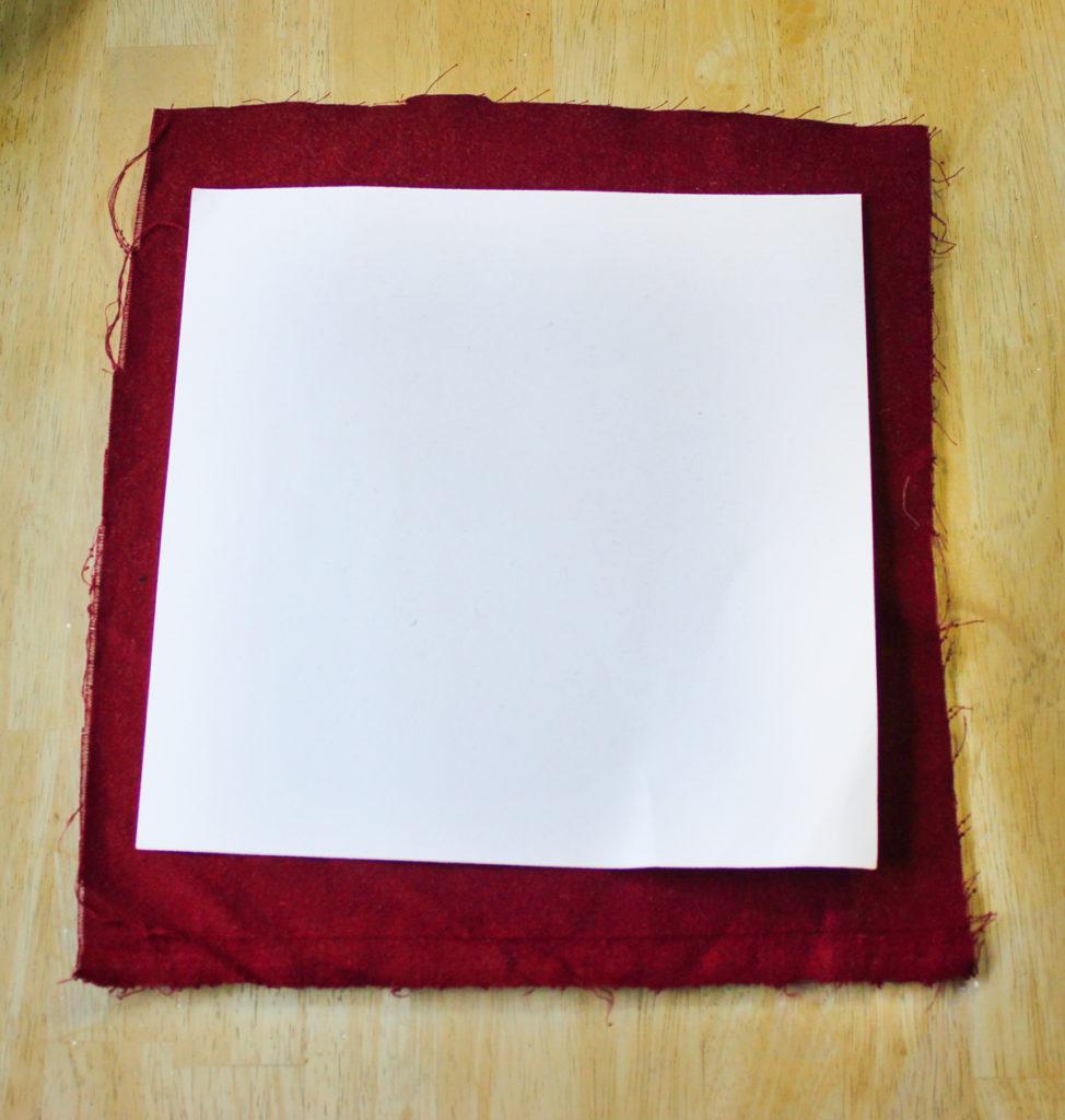 Cardboard on velvet
